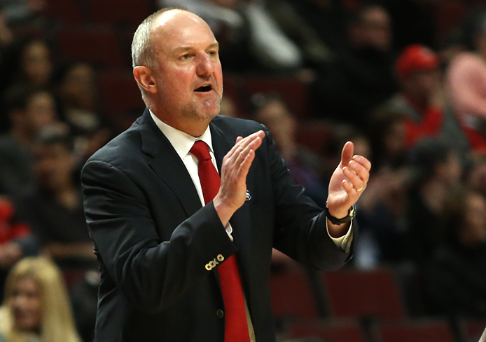 Coach Thad Matta picked up his OSU program record 298th win against Minnesota on March 12 in Chicago. OSU won the Big Ten Tournament matchup, 79-73. Credit: Mark Batke / Photo editor
