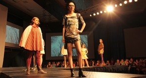 Models during last year's FPA Fashion Show. Credit: Amanda Etchison / Campus editor