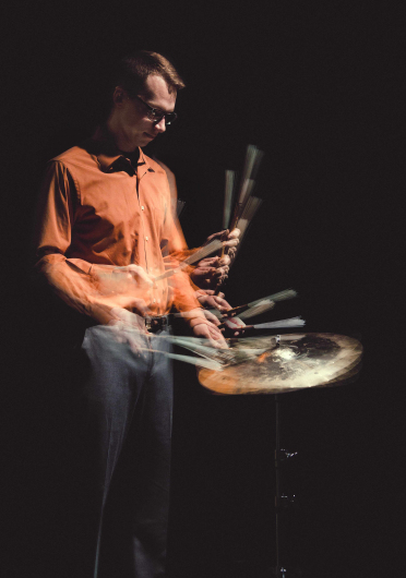 Zach Koors plays drums as part of Drums Downtown, which takes place this Friday and Saturday Saturday at 8 p.m. at the Capitol Theatre at Riffe Center on High Street. Credit: Courtesy of Nick Fancher