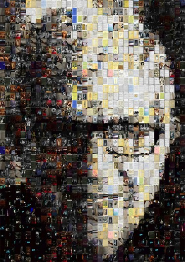 """Mosaic Marvin,"" a mosaic by photographer Len Price, included in the Columbus Museum of Art's exhibition, ""Remembering Marvin Hamlisch: The People's Composer."" Credit: Courtesy of Len Price"