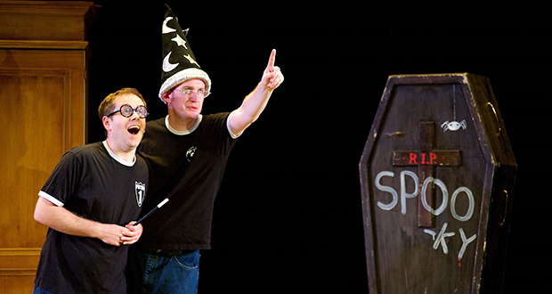 """Jefferson Turner (left) and Daniel Clarkson wrote and star in """"Potted Potter,"""" a parody play of the Harry Potter series coming to Columbus. Credit: Courtesy of Courtesy of Brian Friedman"""