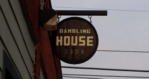 The sign outside Rambling House Soda. Credit: Lantern file photo