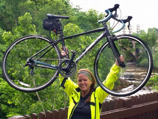Grace Galvin will begin biking across the country June 20 as part of a Bike & Build campaign to raise money for affordable housing construction. Credit: Courtesy of Grace Galvin.