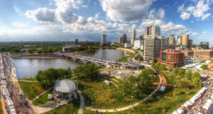 An aerial view of the Columbus Arts Festival, set to take place this year June 12 through 14. Credit: Courtesy of Greater Columbus Arts Council