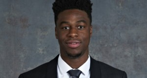 Denver Nuggets first-round pick Emmanuel Mudiay poses for a pre-draft photo. Credit: Courtesy of NBA.com