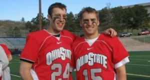 Ohio State alumnus Jonathan DeCanio, on right, with lacrosse teammate during his 2004-2007 career at OSU. Credit: Courtesy of Jonathan DeCanio.