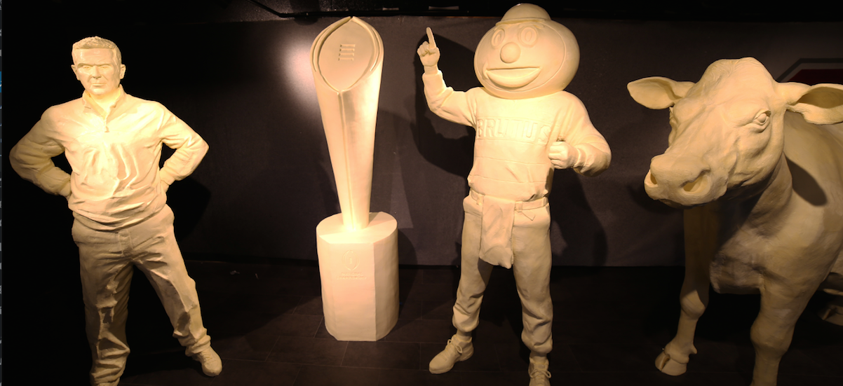 Ohio State Fair unveils spread of buttery Buckeye sculptures