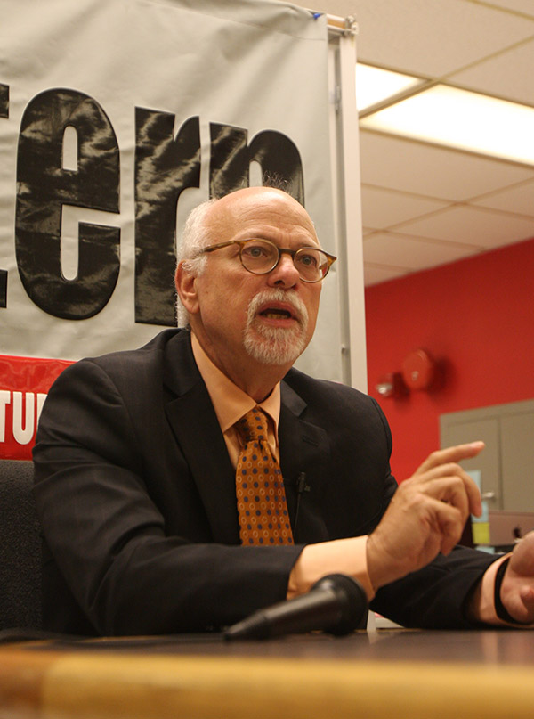 OSU Provost and Executive Vice President Joseph Steinmetz during an interview with The Lantern. Credit: Lantern File Photo