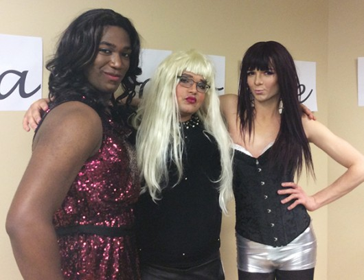 Sigma Phi Beta members dress up for their soon-to-be annual drag show. Credit: Courtesy of Carrington Conerly