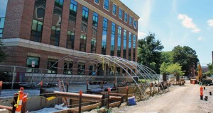 Eighteenth Avenue undergoes construction on August 22 in Columbus, Ohio. Photo Credit: Michael Huson / Campus Editor