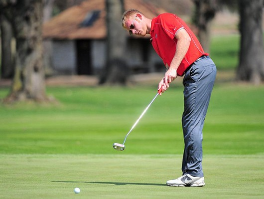 Then redshirt-sophomore Michael Bernard rolls a putt during an event in the 2014-15 season. Photo Courtesy of Ohio State Athletics