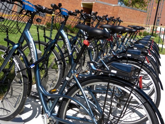Bike lined up on campus on August 21. Photo Credit: Amanda Etchison / Editor in Chief