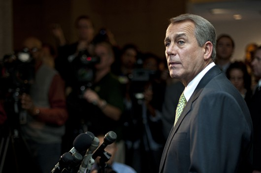 John Boehner during a press conference on Capitol Hill on Sept. 25. Credit: Courtesy of TNS