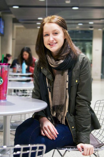 Halie Vilagi, a third-year in public affairs and political science, at Berry Cafe. Credit: Courtesy of Halie Vilagi.