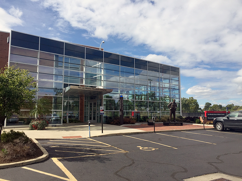The Student Athletic Development Center at the Woody Hayes Athletic Center will have 15,000-20,000 square feet of strength and conditioning space. Credit: William Kosileski / Lantern Reporter