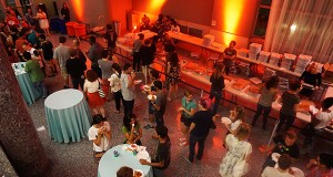 Students enjoy food and entertainment at the 2015 Wexner Center for the Arts Fall Student Party. Credit: Lantern File Photo