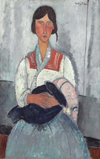 "Amedeo Modigliani's ""Gypsy Woman with Baby."" Credit: Courtesy of Abhijit Varde"
