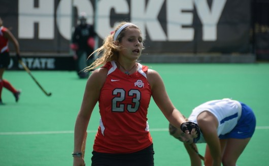 Sophomore forward/midfielder Maddy Humphrey during a game against St. Louis on Aug. 28. OSU won 5-0. Credit: Kevin Stankiewicz | Oller Reporter