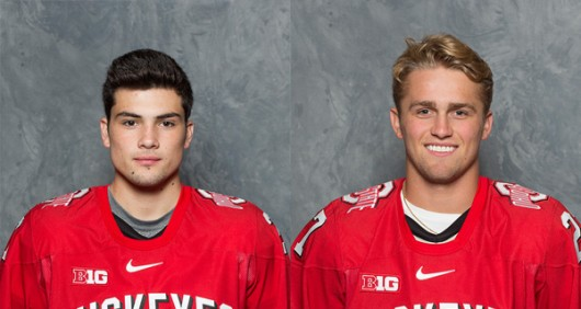 OSU freshman forward  Miguel Fidler (left) and OSU freshman defender Tyler Nanne (right). Credit: Courtesy of Ohio State Department of Athletics