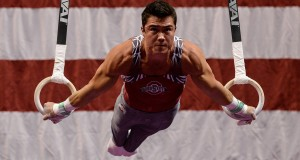 Sophomore Sean Melton competes during the 2015 P&G Championships. Courtesy of OSU athletics