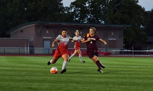 OSU freshman midfielder Sarah Roberts (10) during a game against Minnesota on Sept. 17 at Jesse Owens Memorial Stadium. OSU lost 2-1. Credit: Sam Harris / For The Lantern