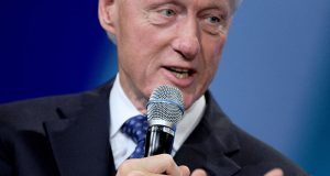 Former president Bill Clinton speaks on stage about the future of equality and opportunity at the Clinton Global Initiative at the Sheraton Hotel in New York City on Sept. 29, 2015. Credit: Courtesy of TNS