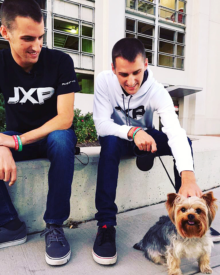 Owners, Max and Zach Zitney with their CEO Jack, the dog,  pose for a picture. Courtesy of Zach and Max Zitney.