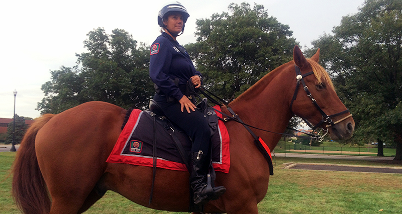 University Police officer saddles up for student safety