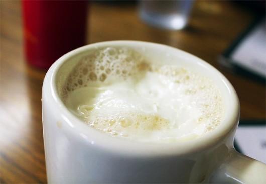 A brewed vanilla cappuccino at Jack and Benny's. Credit: Kyjah Coryat / Lantern Reporter