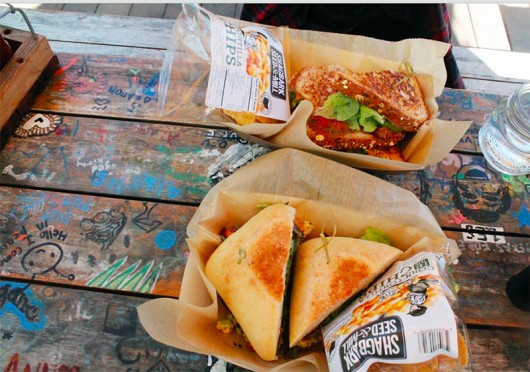 Sandwiches at Katalina's diner including a BLT and a southern fried chicken sandwich. Credit: Kyjah Coryat / Lantern Reporter