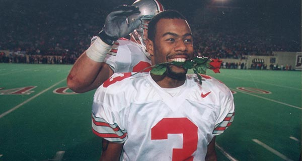 Former Ohio State wide receiver Dimitrious Stanley circa 1997.  Credit: Courtesy of OSU Athletic Communications.