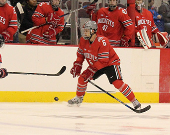 OSU freshman defender Tommy Parran during the Buckeyes 4-0 shutout on Oct. 3 at The Schottenstein Center. Credit: Kaley Rentz / Assistant Sports Director