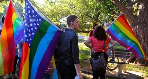 "Students prepare for ""Speak Out"" rally on the Oval on Oct. 11. Credit: photo by Elizabeth Tzagournis / For the Lantern"
