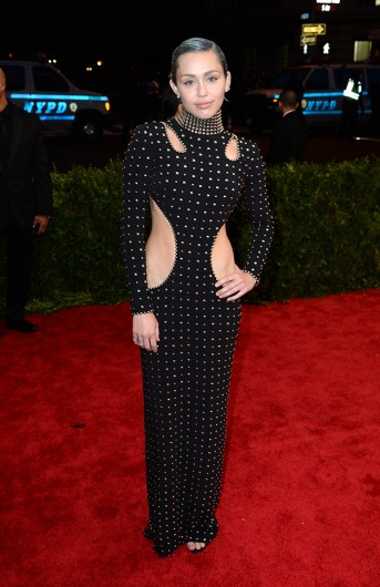 Miley Cyrus attends The Metropolitan Museum of Art Met Gala, in New York City May 4. Credit: Courtesy of TNS