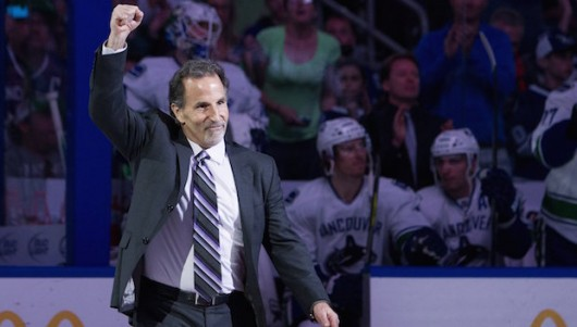 John Tortorella is introduced with alumni from the 2004 Stanley Cup Championship team at the Tampa Bay Times Forum in Tampa, Florida, on March 17, 2014. Credit: Courtesy of TNS
