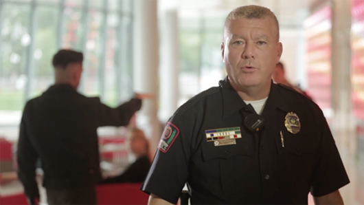 Scene from 'Surviving an Active Shooter.' Credit: Courtesy of The Ohio State University - Administration & Planning