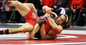 OSU then-redshirt freshman Nathan Tomasello during a match against Minnesota on Feb. 6 at the Schottenstein Center. Credit: Lantern File Photo