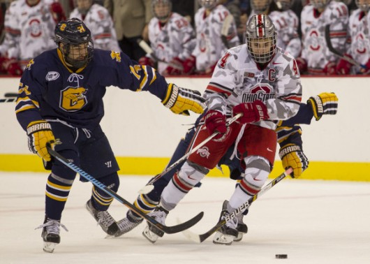 Senior forward Anthony Greco during a game against Canisius on Nov. 13. OSU won 4-1. Credit: Courtesy of OSU