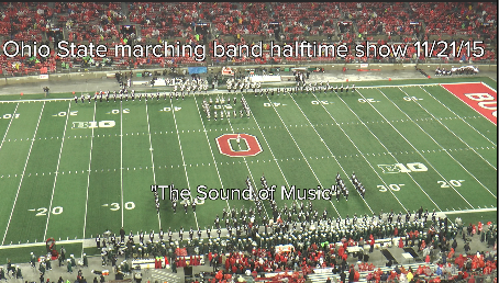 "Ohio State Marching Band ""the Sound of Music""- Halftime Show vs. Michigan State 11-21-2015"