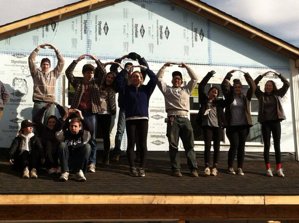 Members of the Habitat for Humanity team pose for a photo. Credit: Courtesy of Danny Aiti.