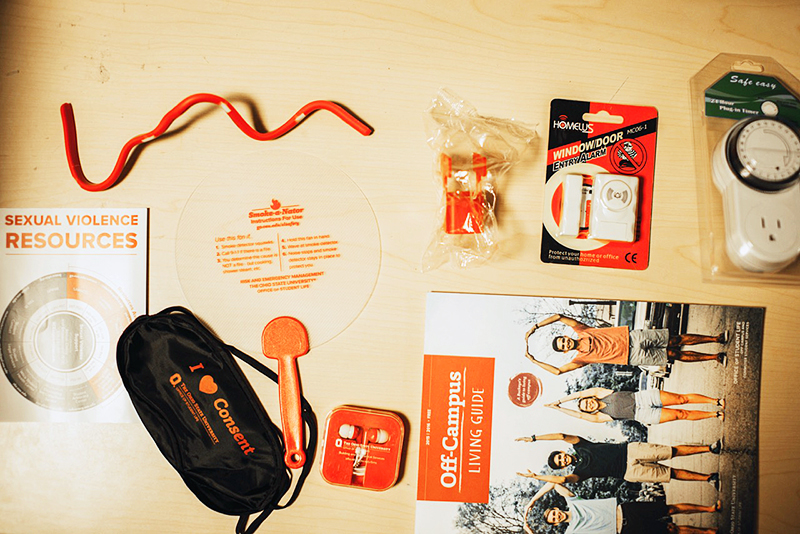 Items that students can find within their safety packs. Credit: Courtesy of Nathan Loos
