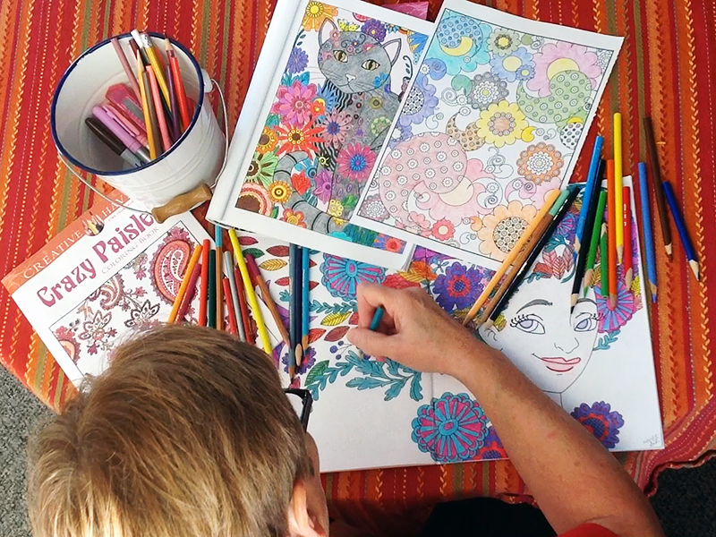 The use of coloring books among adults is a growing trend, used to help relax and relieve stress. Credit: Jenna Leinasars / For The Lantern