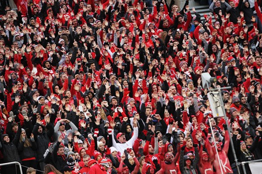 OSU fans cheer during a game against Michigan State on Nov. 21 at Ohio Stadium. OSU lost, 17-14. Credit: Samantha Hollingshead | Photo Editor