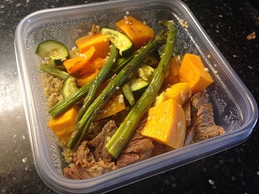 One of Sallee Ann Ruibal's prepared meals of the week. Credit: Sallee Ann Ruibal | Arts & Life Editor