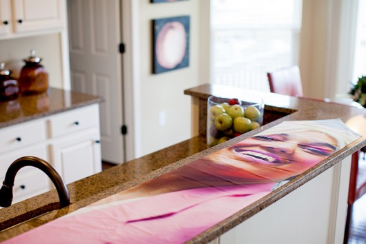 "Photographs printed on household items for ""Tammy Time."" Credit: Courtesy of Clare Gatto"