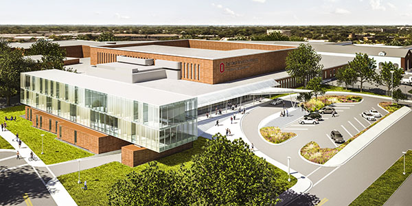A rendering of what the hospital is expected to look like when the project is complete. Credit: Courtesy of The Ohio State University College of Veterinary Medicine.