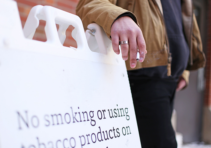 The Ohio State University campus is a smoking and tobacco free zone. Credit: Lantern File Photo