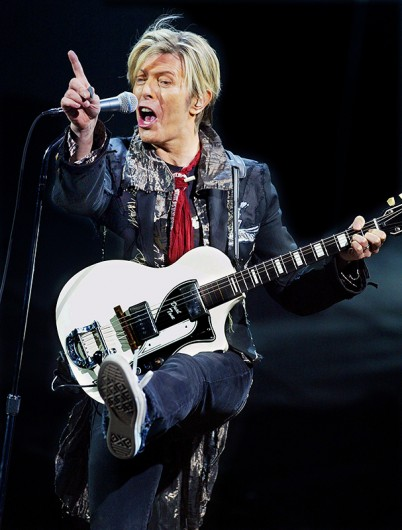 Legendary '70s British rock star David Bowie performs in concert on Jan. 31, 2004 at the Shrine Stadium in Los Angeles. Credit: Courtesy of TNS