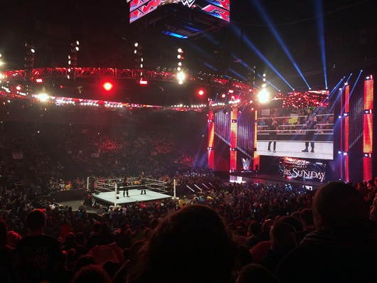 WWE Monday Night Raw Live took place at Nationwide Arena on Jan. 19. Credit: Sallee Ann Ruibal | Arts&Life Editor