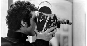 Warren Sonbert while filming. Credit: Courtesy of Sonbert Estate